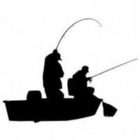 Anglers Boat Fishing Decal