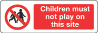 Children Must Not Play On This Site 1