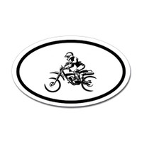 Motorcross Oval Bumper Sticker #19