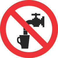 Not Drinkable (ISO Prohibition Symbol)