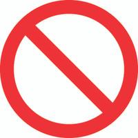 Blank (ISO Prohibition Symbol)