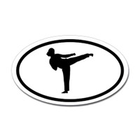 Karate Oval Bumper Sticker #1