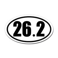 26.2 Oval Bumper Sticker #1
