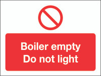 Boiler Empty Do Not Light