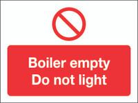 Boiler Empty Do Not Light