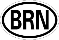 Country Registration Oval Bumper Sticker
