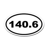 140.6 Oval Bumper Sticker #2