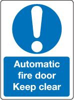 Automatic Fire Door Keep Clear 1