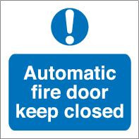 Automatic Fire Door Keep Clear 2