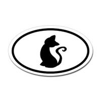 Cats Oval Bumper Sticker #16