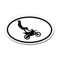 Motorcross Oval Bumper Sticker #5