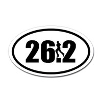 26.2 Oval Bumper Sticker #5