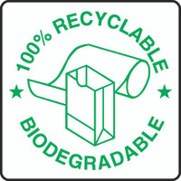 100% Recyclable Biodegradable Sign