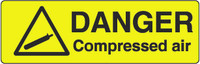 Danger Compressed Air Marker
