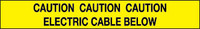 Caution Electric Cable Below Marker