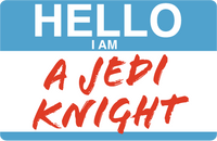 Hello I Am A Jedi Knight Sticker