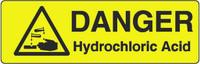 Danger Hydrochloric Acid Marker