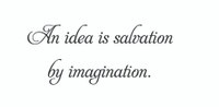 An Idea Is Salvation.... (Wall Art  Decal)