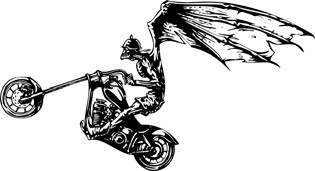 Angel Of Death Motorcycle Decal