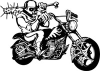 Bringing The Pain Motorcycle Decal