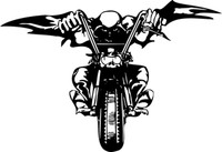 Coming In The Night Motorcycle Decal