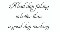 A Bad Day Fishing... (Wall Art  Decal)