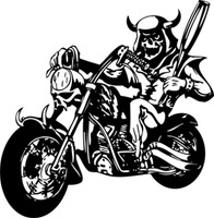Death Won't Stop Me From Riding Motorcycle Decal
