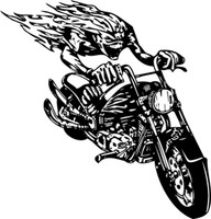 Forever On The Road Motorcycle Decal