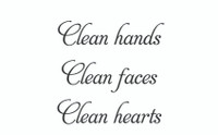 Clean Hands... (Wall Art Decal)