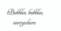 Bubbles Bubbles Everywhere... (Wall Art Decal)