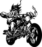 Hell On Wheels Motorcycle Decal