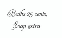 Baths 25 Cents... (Wall Art Decal)