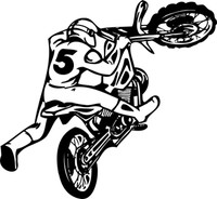 High Flying Trick Dirt Bike Decal