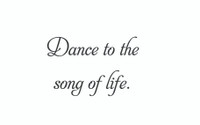 Dance To The Song... (Wall Art  Decal)