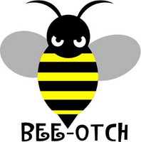 Bee-Otch Vehicle Sticker