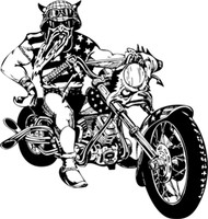 Invitation To Pain Motorcycle Decal