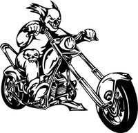Joker and His Ride Motorcycle Decal