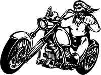 Let's Roll Motorcycle Decal