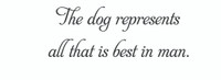 The Dog Represents... (Wall Art Decal)