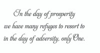 In The Day Of Prosperity Wall Art Decal