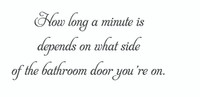 How Long A Minute Is... (Wall Art Decal)