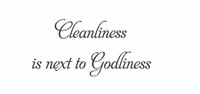 Cleanliness Is Next... (Wall Art Decal)