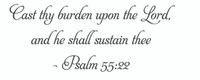Cast Thy Burden Upon The Lord Wall Art Decal