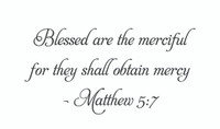 Blessed Are The... (Wall Art Decal)