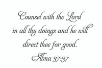Counsel With The Lord... (Wall Art Decal)