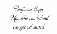 Confucius Say: Man Who Run... (Wall Art Decal)