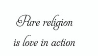 Pure Religion... (Wall Art Decal)
