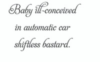 Baby Ill-Conceived... (Wall Art Decal)