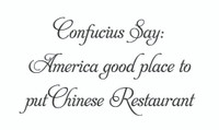 Confucius Say: America... (Wall Art Decal)