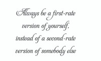 Always Be A First-Rate... (Wall Art Decal)